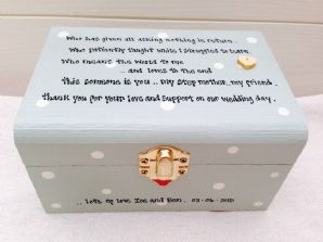 Shabby Box Chic Gift Step Mother Of The Bride Step Mum Wedding Personalised